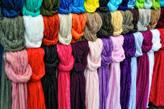 silk scarfs Arkivbilder