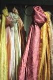 silk scarves Arkivfoto