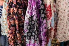 silk scarves Arkivbilder