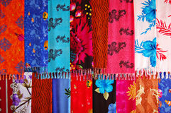 Silk scarves Stock Image