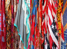 Silk scarves Stock Images