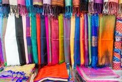 Silk scarves Stock Photos