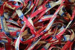 Silk. Scraps for textile artist stock photography