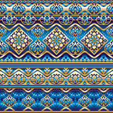 Silk seamless  blue ornament Stock Images