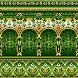 Silk seamless  green ornament Royalty Free Stock Photography
