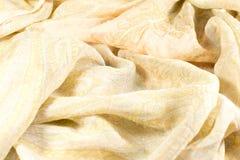 Silk shawls peach color Royalty Free Stock Photos