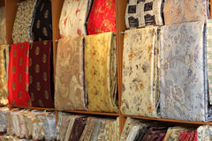 Silk in shop Stock Photography