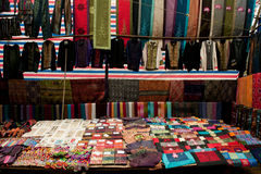 Silk shop Royalty Free Stock Photography