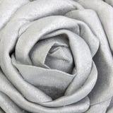 Silk silver rose Stock Photo