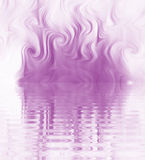 Silk Smoke Ripple Swirl. Design of Silk Smoke, ripple swirl graphic in purple Stock Photography