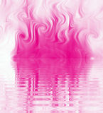 Silk Smoke Ripple Swirl. Design of Silk Smoke, ripple swirl graphic in pink Royalty Free Stock Images