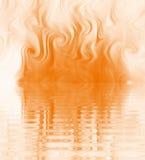 Silk Smoke Ripple Swirl. Design of Silk Smoke, ripple swirl graphic in orange Royalty Free Stock Image