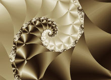 Silk spiral Stock Photography