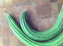 Silk squash on cutting board Stock Images