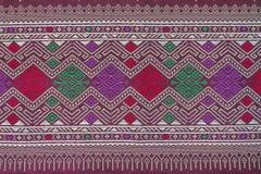 Silk Stoffmuster der thailändischen Art Lizenzfreies Stockfoto