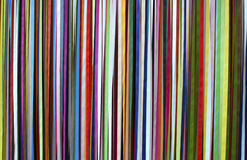 Silk tapes background. Uneven striped background of real colorful silk tapes Stock Photos