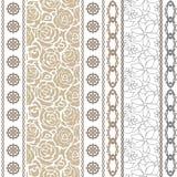 Silk Tapete der Art- DecoWeinlese mit ethnischen Motiven und böhmischen Elementen Lizenzfreies Stockbild