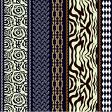 Silk Tapete der Art- DecoWeinlese mit ethnischen Motiven und böhmischen Elementen Stockfotos
