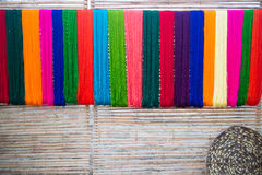 Silk thread background Stock Images