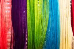 Silk thread background Stock Image