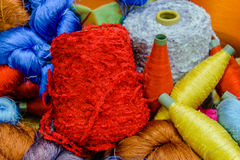 Silk thread  in country of asia,Silk Production Royalty Free Stock Images