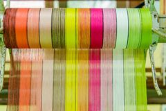Silk thread  in country of asia,Silk Production Stock Photography