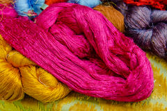 Silk thread  in country of asia,Silk Production Royalty Free Stock Photo