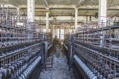 Silk thread factory floor Royalty Free Stock Image