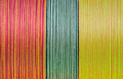 Silk thread in spool. Background of colorful of silk thread in spool Royalty Free Stock Image