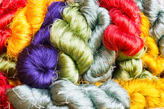Silk Threads On Rows Stock Photo
