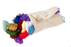 The silk threads wrapped in an outline Stock Photos