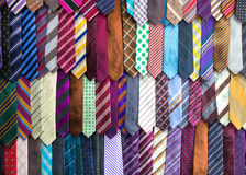 Silk tie collection, fabric textile on Sri Lanka Royalty Free Stock Images