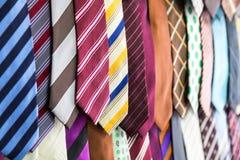 Silk tie collection, fabric textile on Sri Lanka Stock Image