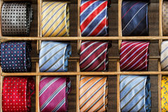 Silk tie on display Royalty Free Stock Photo