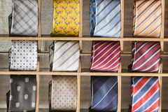Silk tie on display Stock Photography