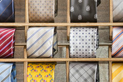 Silk tie on display Stock Photos