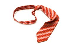 Silk tie isolated Royalty Free Stock Photo
