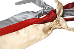 silk ties Royaltyfri Fotografi