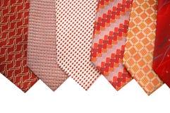 silk ties för val Royaltyfria Bilder