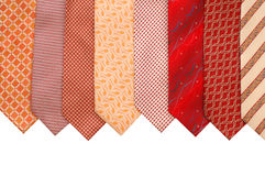 Silk ties isolated