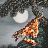 Silk tiger quadro asia vietnam