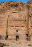 The Silk Tomb  in Nabatean city of  Petra Jordan Royalty Free Stock Photo