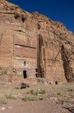 Silk tomb - one of Royal tombs. Petra, Jordan. Royalty Free Stock Photos