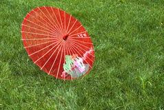 Silk umbrella Stock Photo
