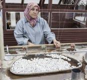 Silk Unweaving Turkey Stock Photo