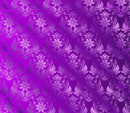 Silk Violet background With Floral Royalty Free Stock Photo