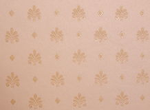 Silk wallpaper. Elegant beige silk wallpaper with pattern stock images