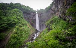 Silk water in bottom of Kegon Falls, Nikko Stock Photography