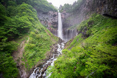 Silk water in the bottom of Kegon Falls, Nikko Stock Photo