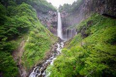 Silk water in the bottom of Kegon Falls, Nikko Stock Photo